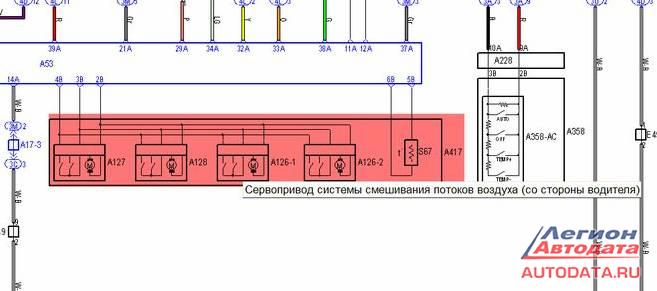 Без схематики в этих хитросплетениях не разобраться, смотрю MotorData Professional.